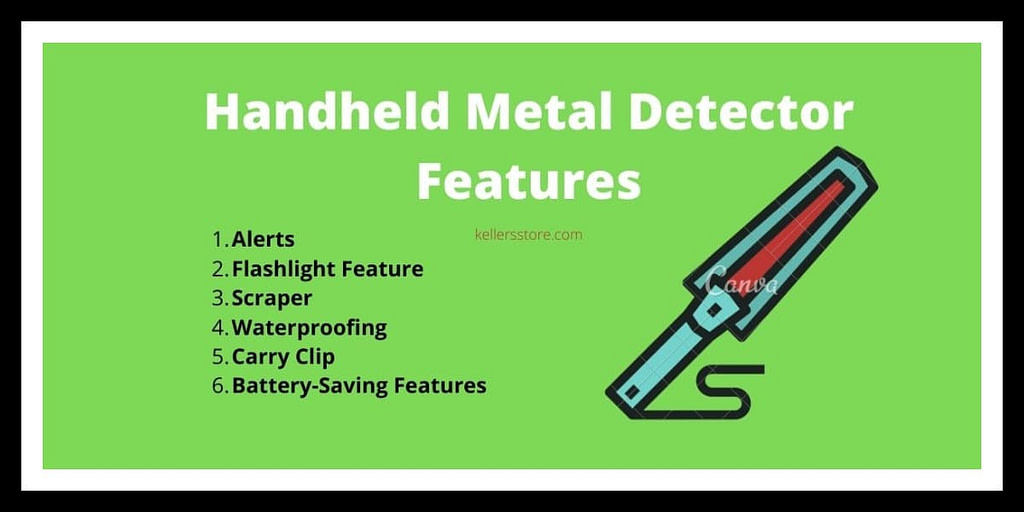 Handheld Metal Detector Features