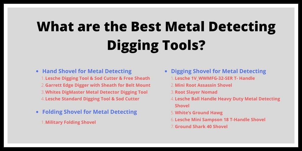 What are the Best Metal Detecting Digging Tools