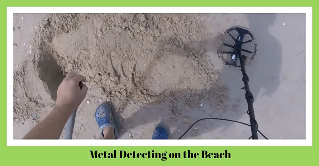 Metal Detecting on the Beach